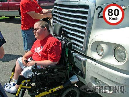 Cadeira de rodas veloz