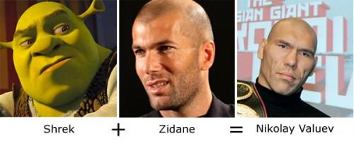 Shrek + Zidane = Nicolay Valuev