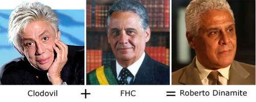 Clodovil + FHC = Roberto Dinamite