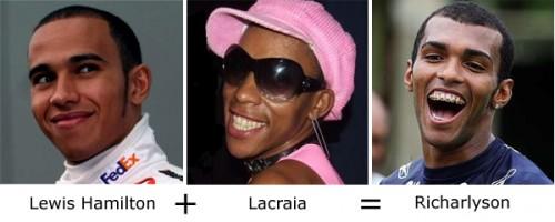 Lewis Hamilton + Lacraia = Richarlyson