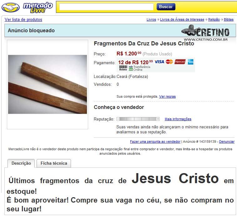Fragmentos da Cruz de Jesus Cristo
