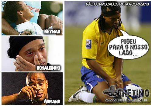 Ronaldinho, Adriano e Neymar
